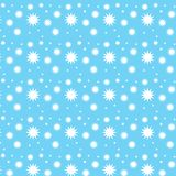 Different star shape pattern blue background Royalty Free Stock Photography