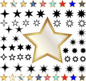 Different stars. Set of  illustration Royalty Free Stock Photo