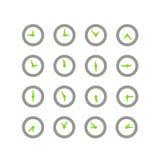 Different status of clocks Royalty Free Stock Image