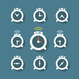 Different status of clocks Royalty Free Stock Photos