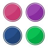 4 different sticker, circle shape. Vector icon Royalty Free Stock Photography