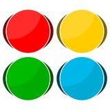 4 different sticker, circle shape. Vector icon Royalty Free Stock Image