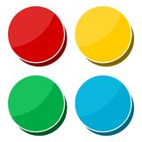 4 different sticker, circle shape. Vector icon Royalty Free Stock Images