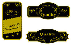 Different sticker, guarantee Royalty Free Stock Image