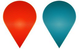 2 different sticker. Set. Red and blue colors Royalty Free Stock Photography