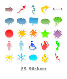 25 different stickers for your design. An image of 25 different stickers for your design Royalty Free Stock Images