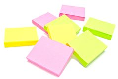 Different sticky notes Stock Images