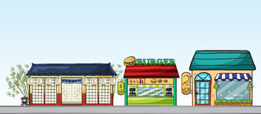 Different stores stock illustration
