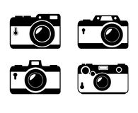 Different style camera photographic monochrome design graphic. Different style camera photographic monochrome design,  illustration graphic Stock Images