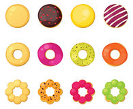 Different style donuts Royalty Free Stock Photos