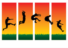 Different Style of Jumping Royalty Free Stock Image