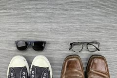 Different Style of men fashion, Compare of formal and casual fashion style. Stock Photography