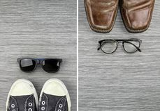 Different Style of men fashion, Compare of formal and casual men fashion style. Stock Images
