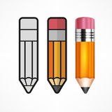 Different Style Pencils Royalty Free Stock Image
