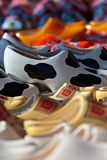 Different styled clogs on a tourist market Royalty Free Stock Photo