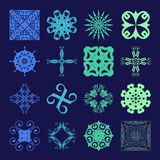 Different styles of Art Deco Style Symbol Sets. Original Pattern Royalty Free Stock Photos