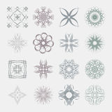 Different styles of Art Nouveau Style Symbol Sets. Original Patt Royalty Free Stock Images