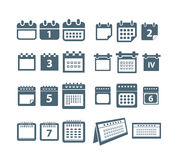 Calendar web icons collection Royalty Free Stock Photo