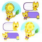 Different styles of Cat Mascot Sets. Animal Character Design Ser Royalty Free Stock Image