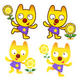 Different styles of Cat Mascot Sets. Animal Character Design Ser Stock Photography