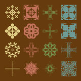Different styles of Damask Style Symbol Sets. Original Pattern a Royalty Free Stock Image