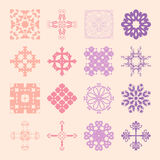 Different styles of Damask Style Symbol Sets. Original Pattern a Royalty Free Stock Photos