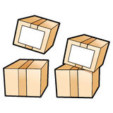 Different styles of Delivery Box Sets. Product and Distribution Royalty Free Stock Photos