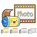 Different styles of Film Sets. Household Items Vector Icon Serie Stock Images