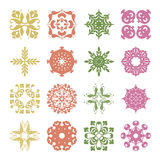 Different styles of Flower and Plant Symbol Sets. Original Patte Royalty Free Stock Image