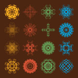 Different styles of Geometric Style Symbol Sets. Original Patter Stock Image