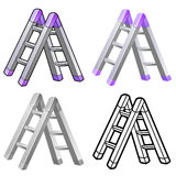 Different styles of ladder Sets. Industrial market Items Vector Stock Images