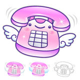 Different styles of Phone Mascot Sets. Appliances Items Characte Royalty Free Stock Images
