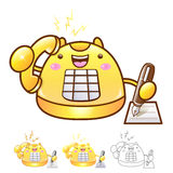 Different styles of Phone Mascot Sets. Appliances Items Characte Royalty Free Stock Photos