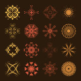 Different styles of Square Grid Symbol Sets. Original Pattern an Royalty Free Stock Photos