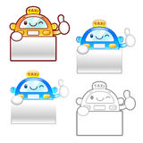 Different styles of Taxi Mascot Sets. Product and Distribution S Royalty Free Stock Photography