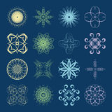 Different styles of Wave Symbol Sets. Original Pattern and Symbo Royalty Free Stock Photo
