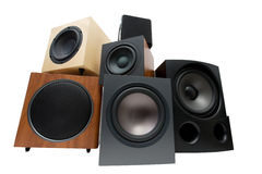 Different sub-woofers Stock Photos