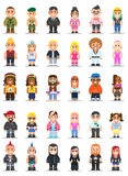 Different subcultures man and woman in flat style. Stock Images