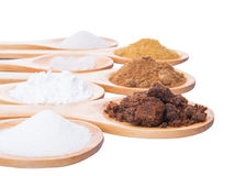 Different Sugar Type II Royalty Free Stock Photos