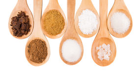 Different Sugar Variety X Royalty Free Stock Photos