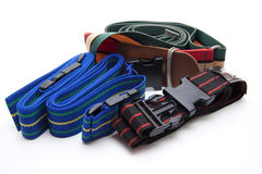Different suitcase straps Royalty Free Stock Photos