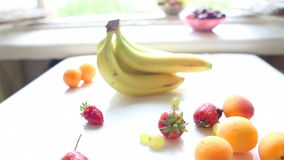 Different Summer fruits on a table Royalty Free Stock Photo