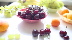 Different Summer fruits on a table Royalty Free Stock Image