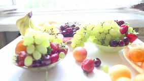 Different Summer fruits on a table Stock Photography