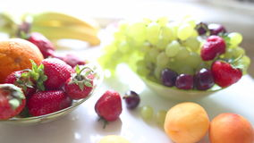 Different Summer fruits on a table Royalty Free Stock Images