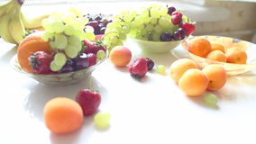 Different Summer fruits on a table Stock Image