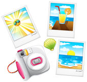 Different summer photos Royalty Free Stock Image