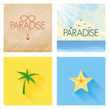 Different Summer Vacation Template For Background Stock Photography