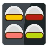Different sushi icon isolated Stock Photography