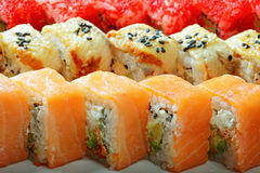 Different sushi rolls closeup Stock Photo
